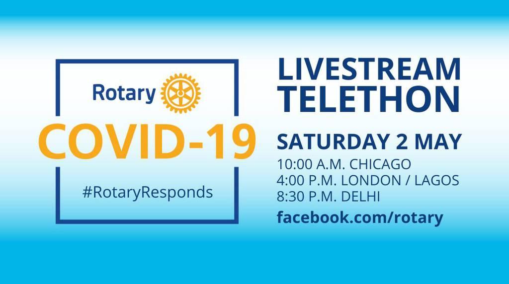Rotary COVID-19 Telethonに参加しましょう!