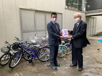 【青少年奉仕事業】児童に自転車寄贈&ZOOMでの交通安全講習会(吹田西RC)