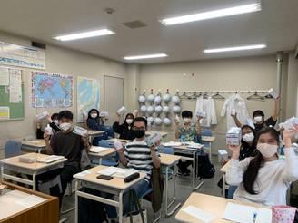 留学生へのマスク及び消毒用ジェルの寄贈(大阪大手前RC)