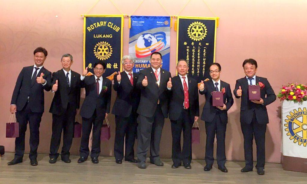 台湾鹿港ロータリークラブ34周年記念式典訪問